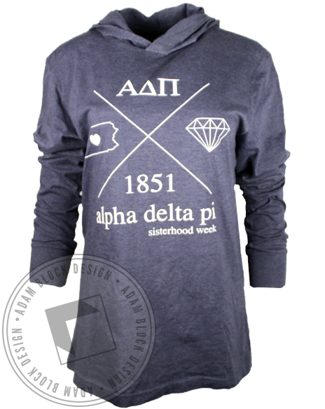 Alpha Delta Pi Sisterhood Week Sweatshirt Hoodie-Adam Block Design