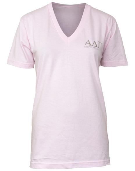 Alpha Delta Pi Standards V-Neck-Adam Block Design