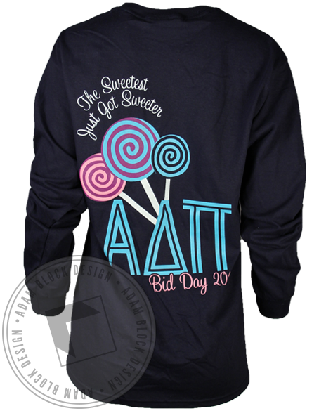 Alpha Delta Pi Sweet Long Sleeve-Adam Block Design
