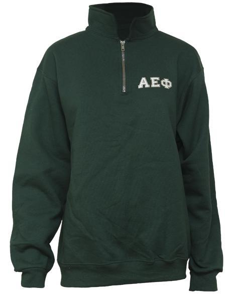 Alpha Epsilon Phi Above All Else Crest Half-zip-gallery-Adam Block Design