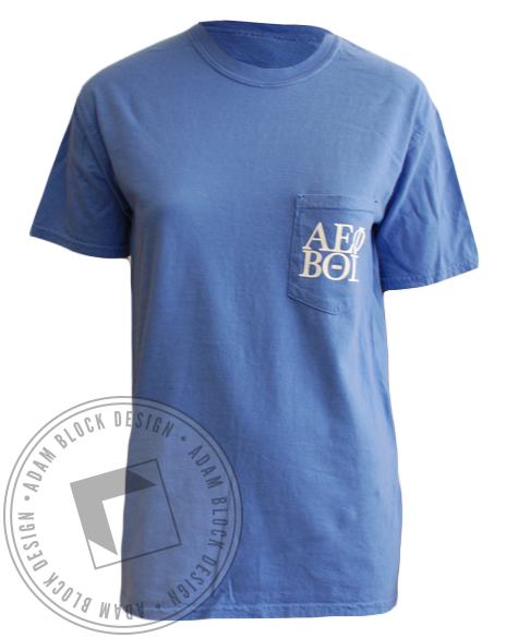 Alpha Epsilon Phi and Beta Theta Pi Tee Shirt-Adam Block Design