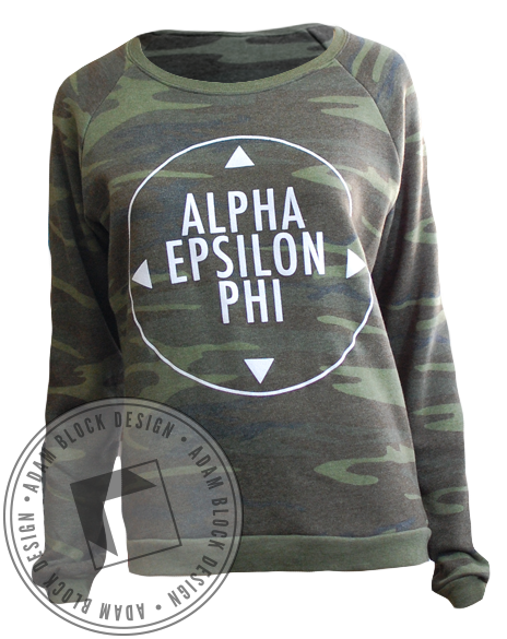 Alpha Epsilon Phi Camo Long Sleeve-Adam Block Design