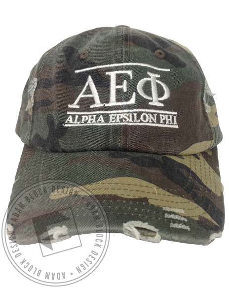 Alpha Epsilon Phi Camouflage Hat-gallery-Adam Block Design