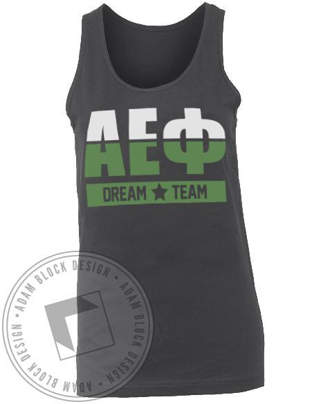 Alpha Epsilon Phi Dream Team Tank Top-gallery-Adam Block Design