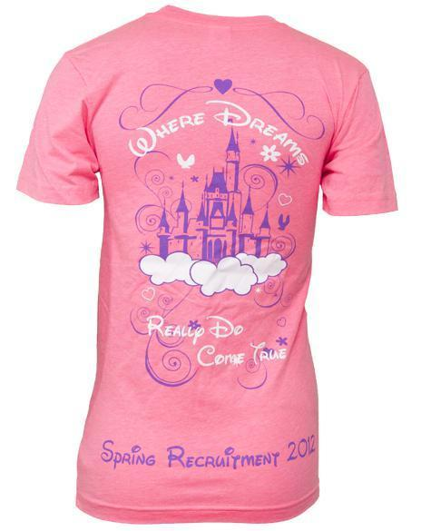 Alpha Epsilon Phi Dreams Come True Castle V-neck-gallery-Adam Block Design