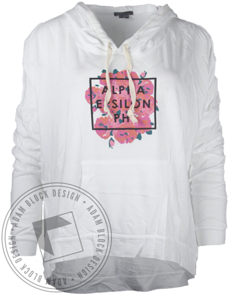Alpha Epsilon Phi Flowers Sweatshirt Hoodie-Adam Block Design