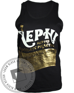 Alpha Epsilon Phi Golden Ticket Tank Top-Adam Block Design