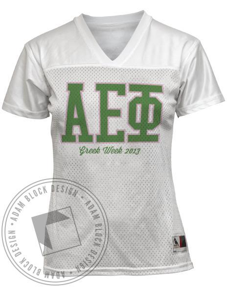 Alpha Epsilon Phi Greek Week Jersey-Adam Block Design