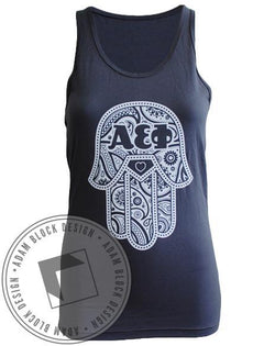 Alpha Epsilon Phi Hamsa Tank Top-Adam Block Design