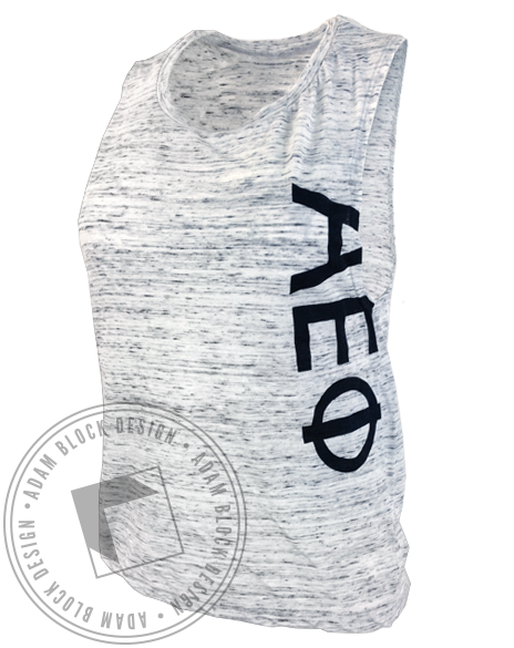 Alpha Epsilon Phi Letter Marble Tank Top-Adam Block Design