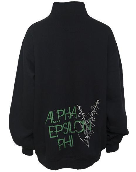 Alpha Epsilon Phi Lily Half-Zip-Adam Block Design