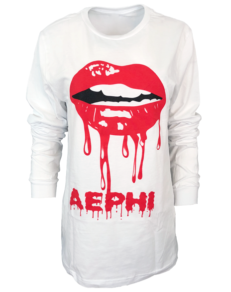 Alpha Epsilon Phi Lips Longsleeve-gallery-Adam Block Design