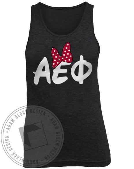Alpha Epsilon Phi Minnie Tank Top-gallery-Adam Block Design