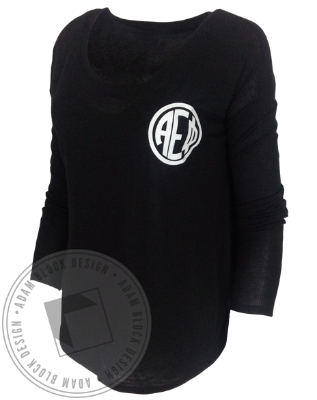 Alpha Epsilon Phi Monogram Longsleeve-Adam Block Design
