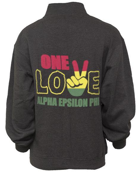 Alpha Epsilon Phi One Love Half-Zip-gallery-Adam Block Design