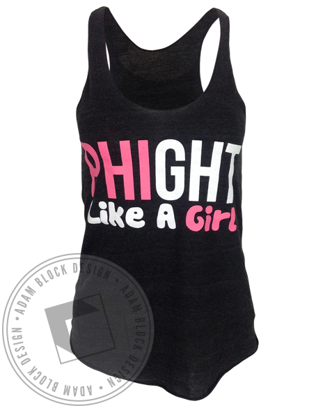 Alpha Epsilon Phi Phight Like A Girl Tank Top-Adam Block Design