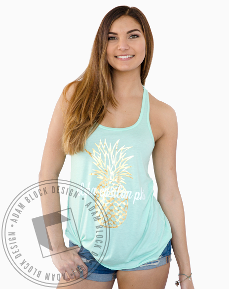 Alpha Epsilon Phi Pineapple Tank-gallery-Adam Block Design