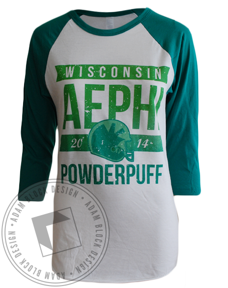 Alpha Epsilon Phi Powderpuff Long Sleeve-Adam Block Design