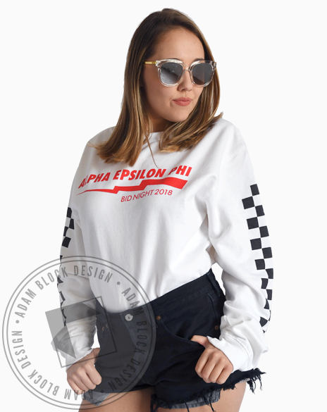 Alpha Epsilon Phi Racing Sweatshirt-Adam Block Design