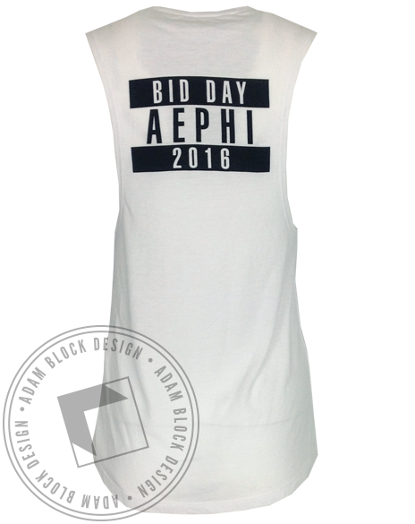 Alpha Epsilon Phi Space Tank Top-Adam Block Design