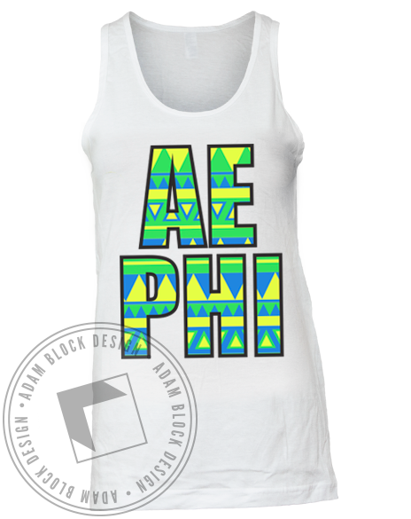 Alpha Epsilon Phi Tribal Get On Our Level Tank Top-Adam Block Design