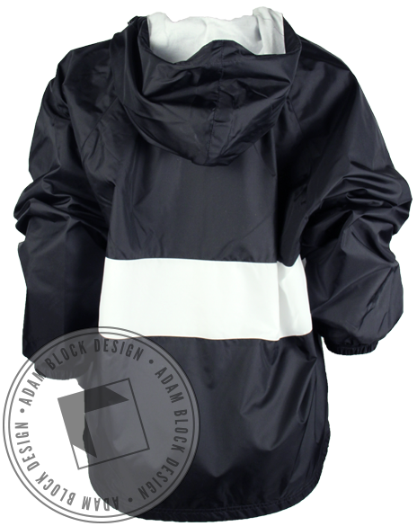 Alpha Epsilon Phi Windbreaker Jacket - Black-Adam Block Design