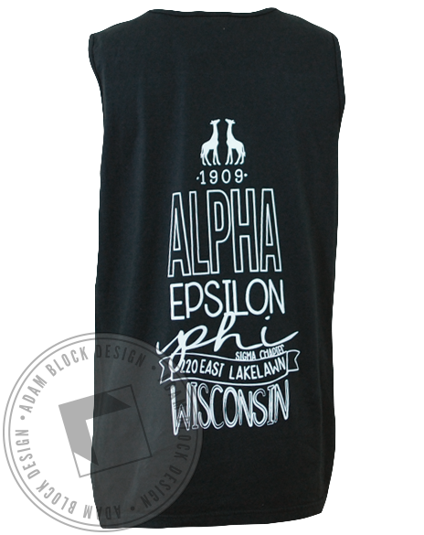 Alpha Epsilon Phi Wisconsin Tank Top-Adam Block Design