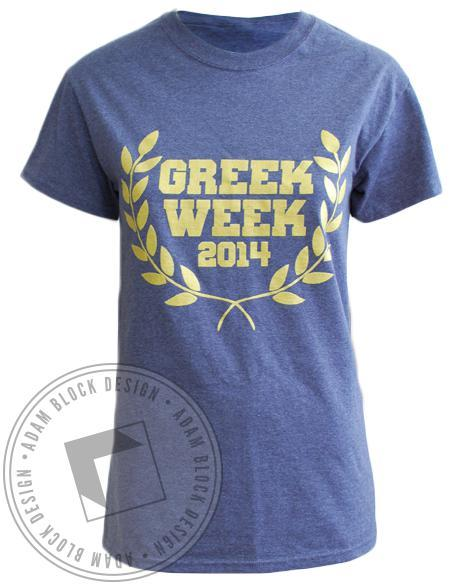 Alpha Epsilon Pi Greek Week Shirt-Adam Block Design