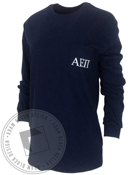 Alpha Epsilon Pi Lion Pocket Long Sleeve-Adam Block Design