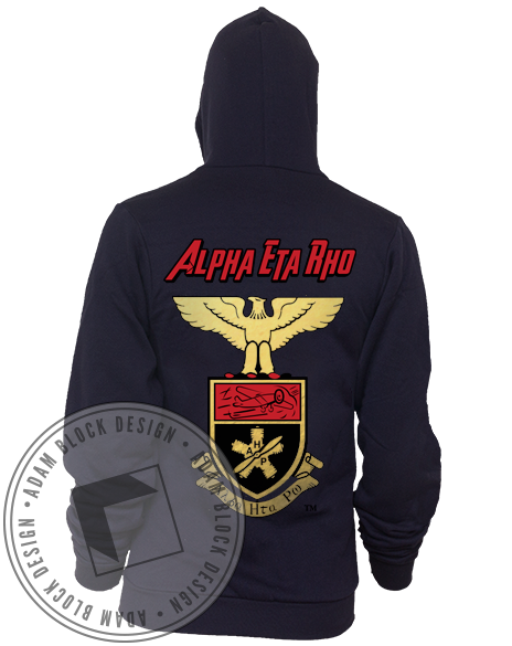 Alpha Eta Rho Crest Hoody-gallery-Adam Block Design