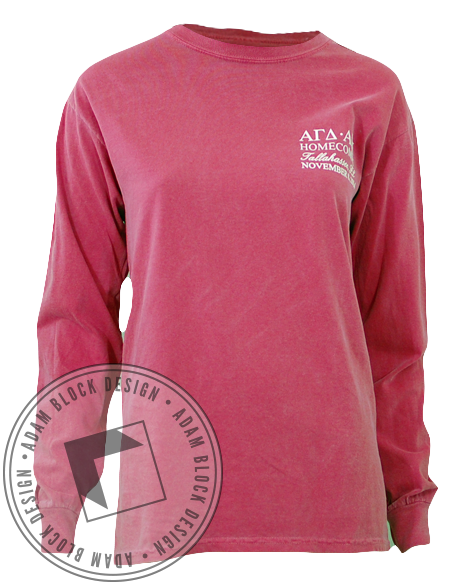 Alpha Gamma Delta & Alpha Epsilon Pi Homecoming Long Sleeve-Adam Block Design