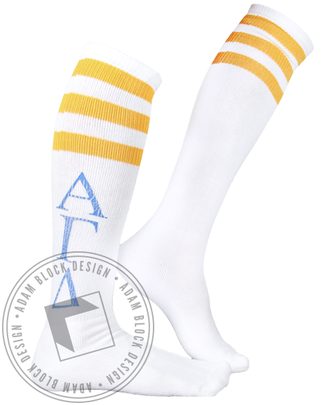 Alpha Gamma Delta Athletic Socks-Adam Block Design