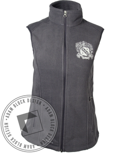 Alpha Gamma Delta Crest Grey Vest-Adam Block Design