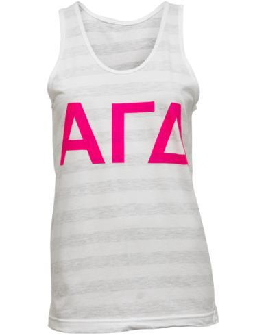 Alpha Gamma Delta Crest Tank Top-Adam Block Design