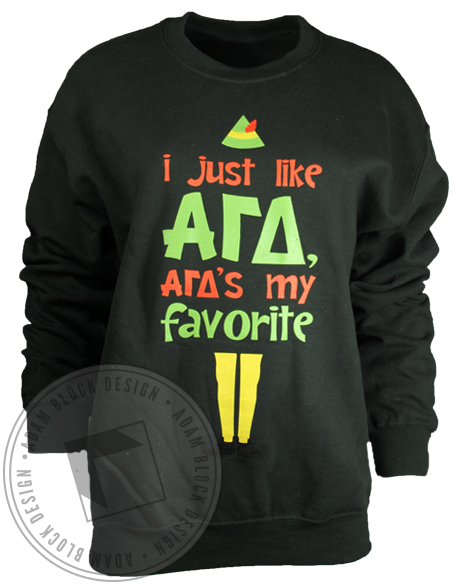 Alpha Gamma Delta Favorite Sweatshirt-Adam Block Design