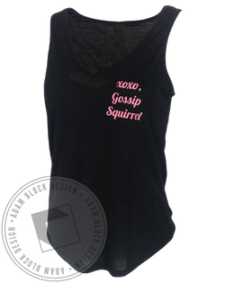 Alpha Gamma Delta Gossip Squirrel Tank Top-Adam Block Design