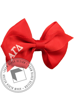 Alpha Gamma Delta Hair Bow-Adam Block Design