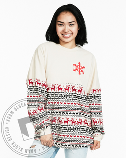 Alpha Gamma Delta Holiday Long Sleeve Spirit Jersey-Adam Block Design