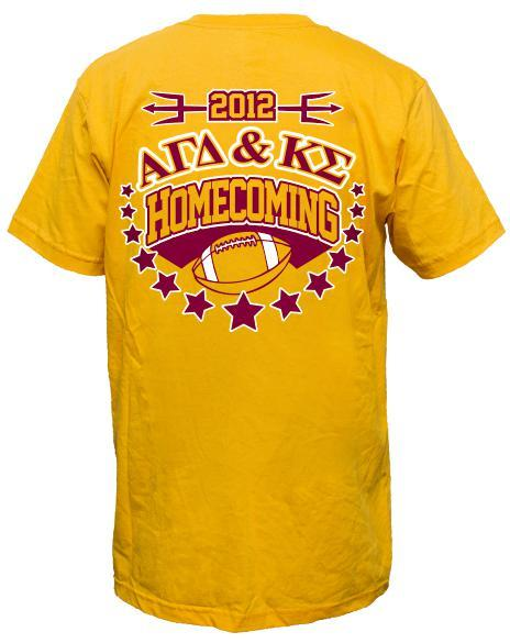 Alpha Gamma Delta & Kappa Sigma Homecoming Tee Shirt-Adam Block Design