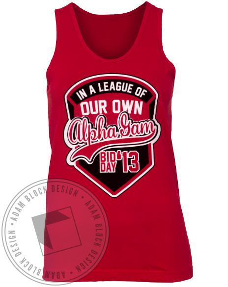 Alpha Gamma Delta League Tank Top-Adam Block Design