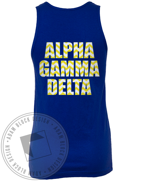 Alpha Gamma Delta Live With Purpose Tank Top-gallery-Adam Block Design