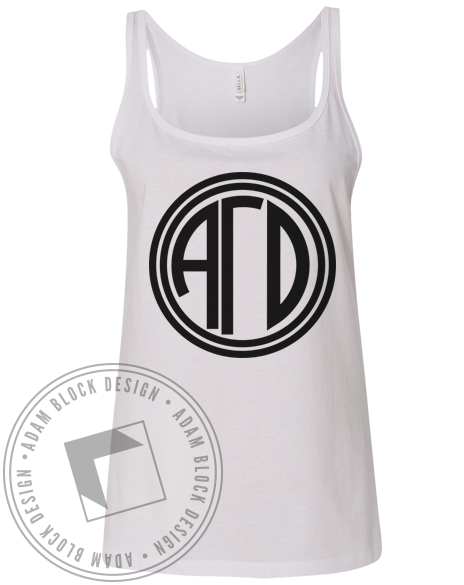 Alpha Gamma Delta Monogram Tank Top-Adam Block Design