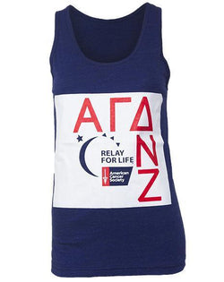 Alpha Gamma Delta Relay For Life Tank-Adam Block Design