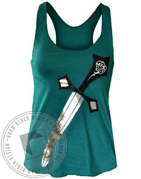 Alpha Gamma Delta Rose Tank Top-gallery-Adam Block Design