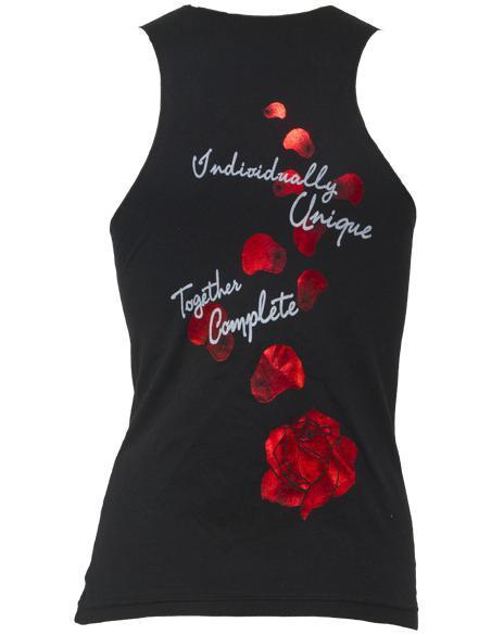 Alpha Gamma Delta Red Rose Tank Top-Adam Block Design