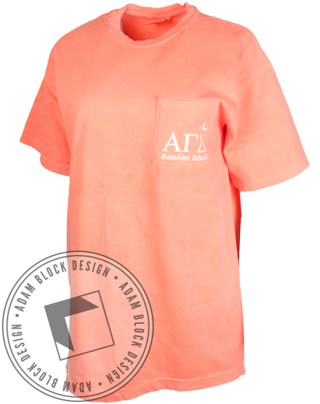 Alpha Gamma Delta Sisterhood Retreat Tee Shirt-Adam Block Design