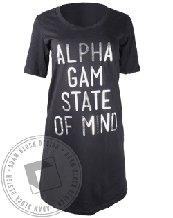 Alpha Gamma Delta State of Mind Dress-Adam Block Design