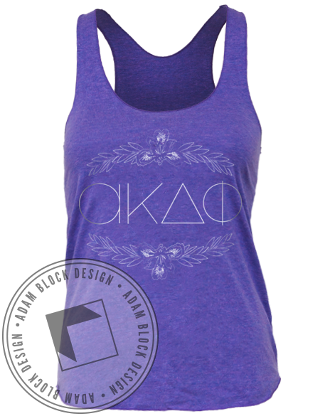 Alpha Kappa Delta Phi Iris Tank Top-Adam Block Design