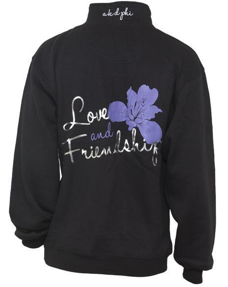 Alpha Kappa Delta Phi Love And Friendship Half-zip Jacket-Adam Block Design