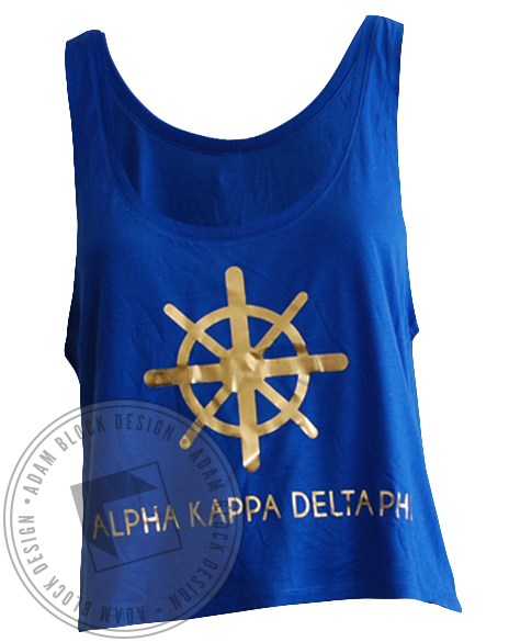 Alpha Kappa Delta Phi Tank Top-Adam Block Design